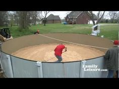 Another variation of an above ground pool installation part 1. http://www.youtube.com/user/FamilyLeisure?feature=watch  http://www.abovegroundpoolbuilder.com/