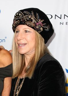 Barbra Streisand rocks a cute hat