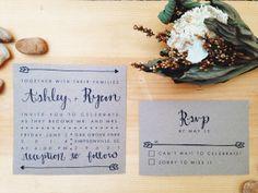 Hand Drawn Arrow Wedding Invitations
