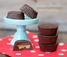 Dark Chocolate Peanut Butter Cups: 2 ingredients and 3 simple steps.