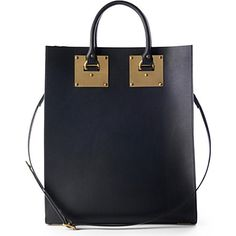 This Sophie Hulme tote is roomy enough to carry all our fashion week essentials.
