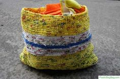 plastic bagsi, crochett plastic, craft idea, knit, crochet project, brick lifestyl, carrier bag, crochet plastic, yellow brick