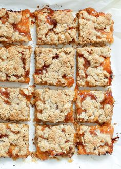 Apricot Crisp Bars (traditional and gluten free recipes) from @barefeetkitchen