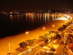 Icaraí beach at night Niterói