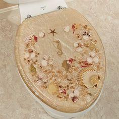 Jewel Shell Elongated Toilet Seat