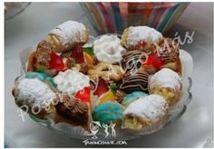 Dulces variados para fiestas. Enrollados, Pasteleria francesa, Profiteroles, Pies, Donas. Maracaibo - Venezuela