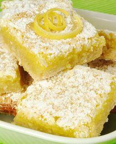Gluten Free Coconut Lemon Squares