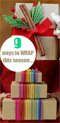 Christmas Wrap ~ use these creative ideas to showcase your gifts.