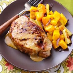 Pork Chops in a Honey-Mustard Sauce Recipe from Taste of Home -- shared by Susan Bentley of Burlington, New Jersey