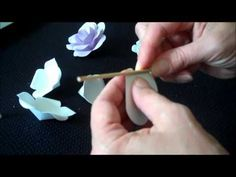 How To Make 21 Different Roses Using One Pattern And White Cardstock