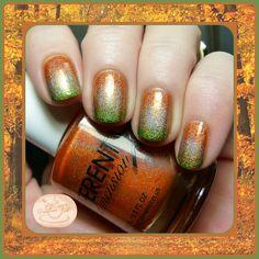Autumn/Thanksgiving Gradient Nail Art