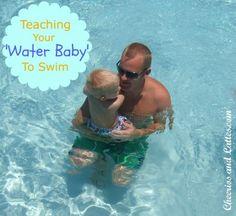 Teach baby to swim