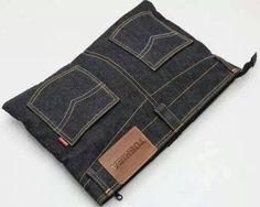 MODA E DICAS DE COSTURA clutch bags, old jeans