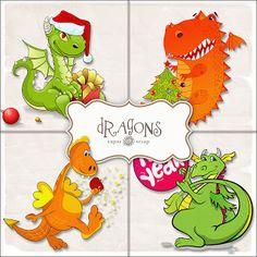 SUPER FREEBIES Blog: Freebies Dragons Illustrations Kit