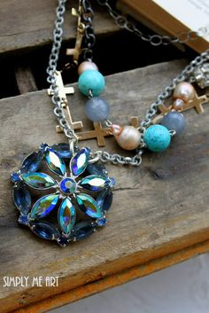 Vintage AB Rhinestone Baroque Pearls Gemstone and by simplymeart, $80.00