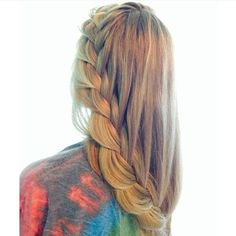 trailing french braid