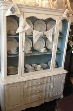 old ochre and duck egg chalk paint by annie sloan