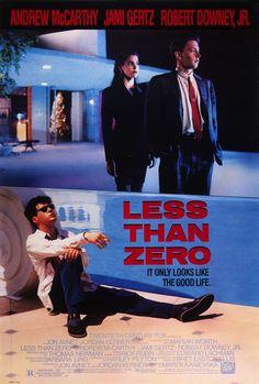 . 80s movi, film, movi poster, robert downey jr, 1987, cinema, james spader, zero, favorit movi