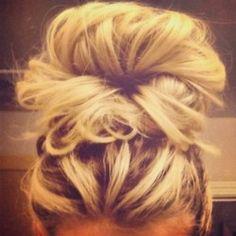 everyday bun bun, fashion, makeup, lock, messy buns, hairstyl, beauti, hair style, messi bun