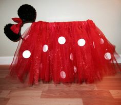 Minnie Mouse inspired tutu....  Gettin crafty with my tutus! Need one? Get in touch with me, I can whip it out pretty quick and relatively cheap. Easy Halloween costume idea!