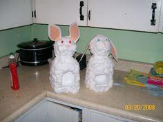milk jug bunnies for easter