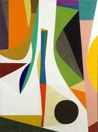 'Up with in' by Frederick Hammersley, 1957-58.