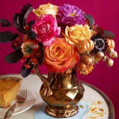 holiday, rose, fall flowers, autumn flowers, fall bouquets, color, fall centerpiec, garden design ideas, wedding centerpieces