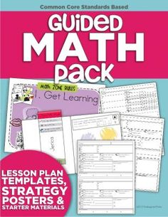 Guided Math Pack (Lesson Plan Templates, Strategy Posters & Starter Materials) from KindergartenWorks on TeachersNotebook.com -  (120 pages)  - All things Guided Math for kindergarten (lesson plan templates, and starter materials)