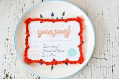 Invitations for a knitting party