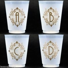 Monogrammed cups on pinterest monogram initials for Monogram letters for cups