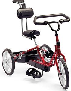Designed for children 7 - 12 years old, the Rifton Medium Adaptive Tricycle provides therapeutic, reciprocal exercise with all the fun of riding.