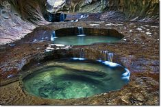 The Subway in Zion National Park, Utah.