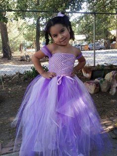 Newborn - Size 9 Tangled Rapunzel Inspired Tutu Dress