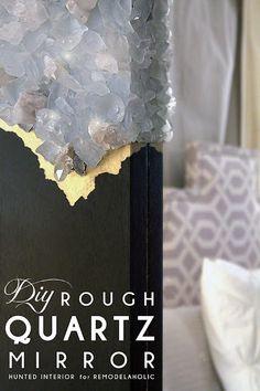 DIY Rough Quartz Mirror Tutorial! #diy #crafts