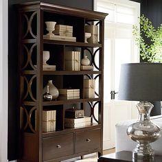 Cosmopolitan Room Divider - Bassett Furniture decor, famili room, daili pick, cosmopolitan room, roomdivid, hous, live room, bassett furniture bookcase, room dividers