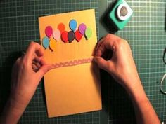 pop up Balloon card - YouTube