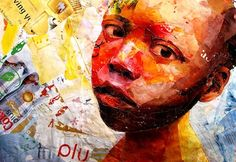 Johannesburg, South Africa artist Benon Lutaaya draw, artists, artworks, mixedmedia, artistbenon lutaaya, south africa, collages, portrait, african artist