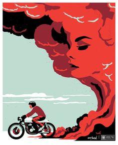 #illustration #motorcycles #motos | caferacerpasion.com