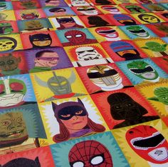 Fancy - Heroes & Villains Wrapping Paper
