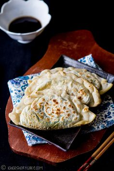 Garlic chive & egg parcels, pungent but delicious - www.ichigoshortcake.com