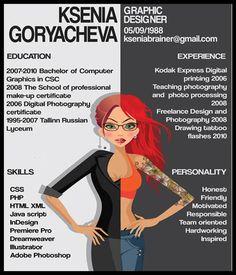 Cool, creative resumes