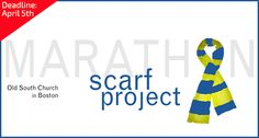 Boston Marathon Scarf Project