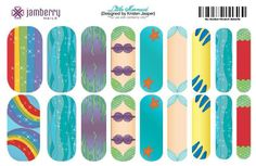 Little Mermaid Inspired Jamberry Nail Wraps! Make yours in the Nail Art Studio today! www.tiptaptoe.jamberrynails.net