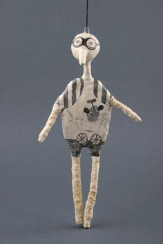 Animal Sculpture Original Art Doll