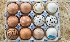 Natural colored Easter Eggs
