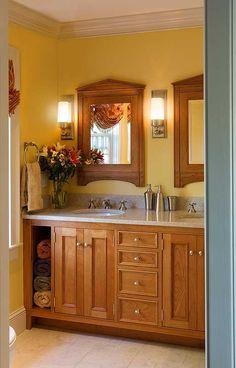 Custom Master Bath with handcrafted medicine cabinets
