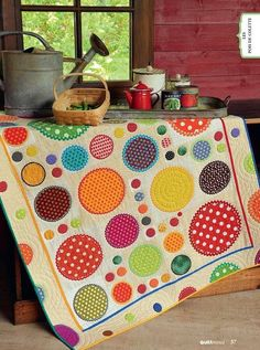 the dot, polka dots, pattern, colorful quilts, dot quilt, rick rack, circl quilt, circle quilts, quilt making