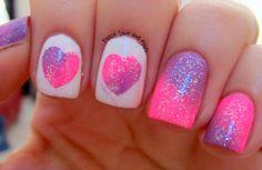 heart nails, valentine day, color, nail art designs, nail designs, nail art ideas, nail arts, valentine nails, sweet nails