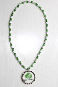 Girl Scouts Bottle Cap Necklace