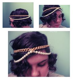 Made just after breakfast. DIY chain head piece.